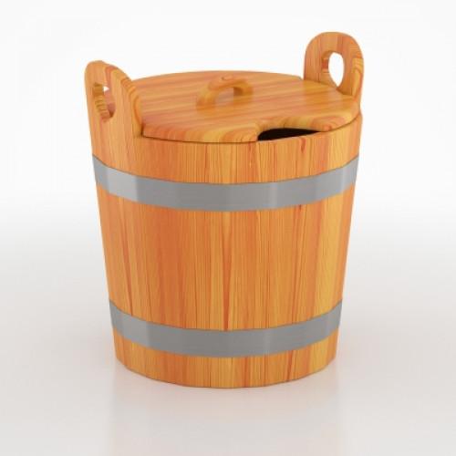 Запарник для бани с крышкой (лиственница натуральная)