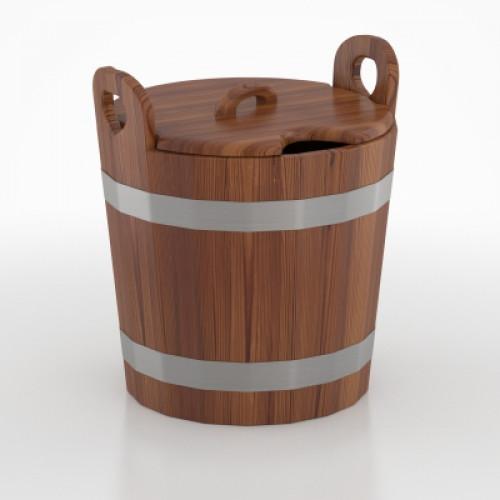 Запарник для бани с крышкой (лиственница морёная)