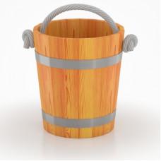 Ведро для бани  (лиственница натуральная)