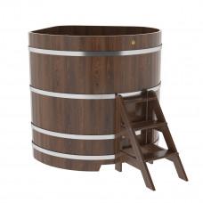Купель угловая из дуба 1,37х1,37х1,4 морёная