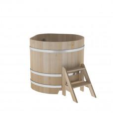 Купель угловая из кедра 1,03х1,03х1,0