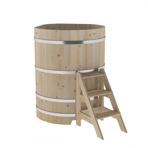 Купель угловая из кедра 1,03х1,03х1,4