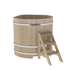 Купель угловая из кедра 1,19х1,19х1,2