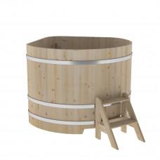 Купель угловая из кедра 1,37х1,37х1,1