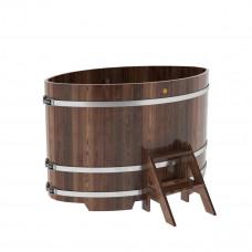 Купель овальная из лиственницы 1,02х1,68х1,1 морёная