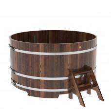 Купель круглая из лиственницы d=1,80х1,0 марёная