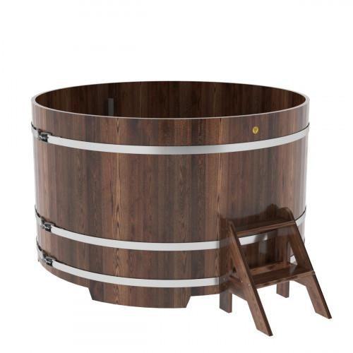 Купель круглая из лиственницы d=1,80х1,1 морёная