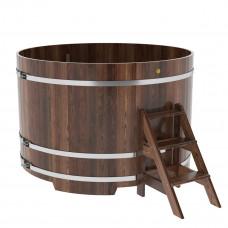 Купель круглая из лиственницы d=1,80х1,2 морёная