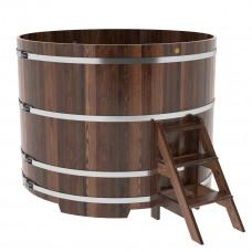 Купель круглая из лиственницы d=1,80х1,4 морёная