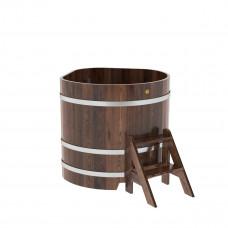 Купель угловая из лиственницы 1,03х1,03х1,0 морёная