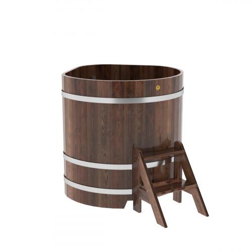 Купель угловая из лиственницы 1,03х1,03х1,1 морёная