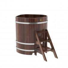 Купель угловая из лиственницы 1,03х1,03х1,2 морёная