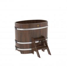 Купель овальная из лиственницы 0,76х1,16х1,0 морёная