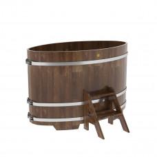 Купель овальная из лиственницы 0,95х1,60х1,1 морёная