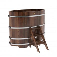 Купель овальная из лиственницы 0,95х1,60х1,4 морёная