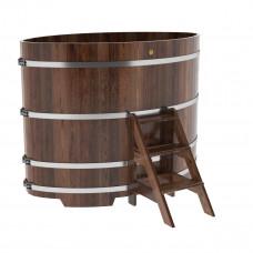 Купель овальная из лиственницы 1,15х1,83х1,4 морёная