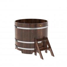 Купель круглая из лиственницы d=1,17х1,0 морёный
