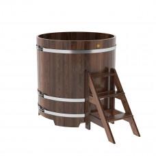 Купель круглая из лиственницы d=1,17х1,2 морёная