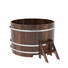 Купель круглая из лиственницы d=1,50х1,0 морёная