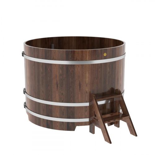 Купель круглая из лиственницы d=1,50х1,1 морёная