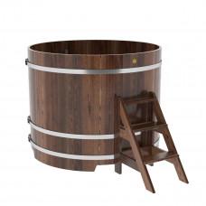 Купель круглая из лиственницы d=1,50х1,2 морёная