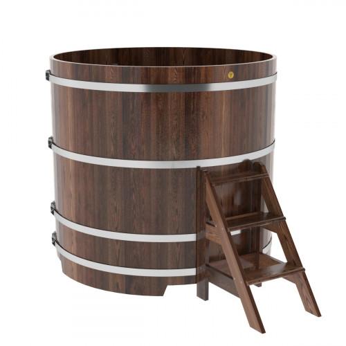 Купель круглая из лиственницы d=1,50х-1,4 морёная