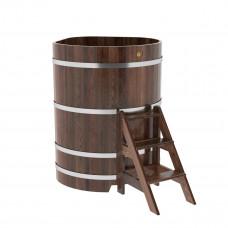 Купель угловая из лиственницы 1,03х1,03х1,4 морёная