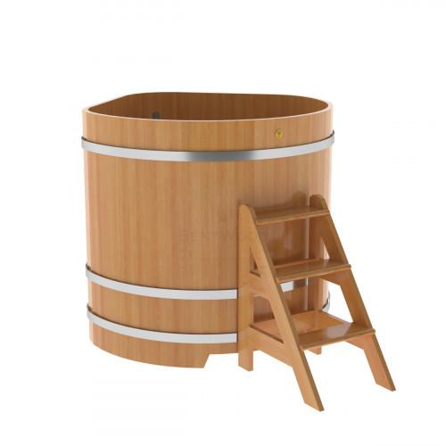 Купель угловая из лиственницы 1,19х1,19х1,2 натуральная