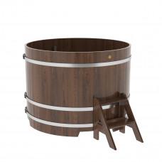 Купель круглая из дуба d=1,50х1,1 морёная