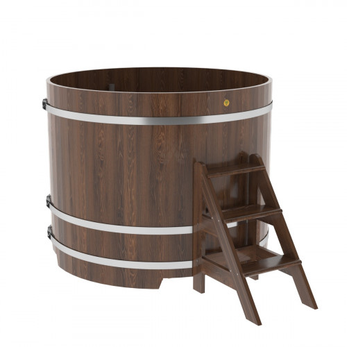 Купель круглая из дуба d=1,50х1,2 морёная