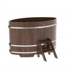 Купель овальная из дуба 1,15х1,83х1,1 морёная