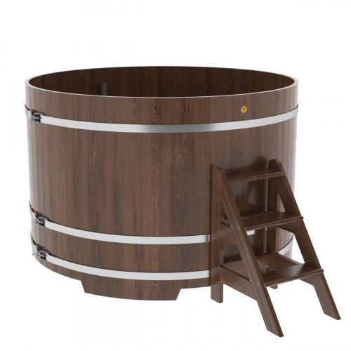 Купель круглая из дуба d=1,80х1,2 морёная