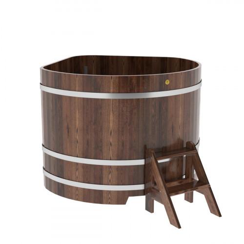 Купель угловая из лиственницы 1,37х1,37х1,1 морёная