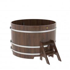 Купель круглая из дуба d=1,50х1,0 морёная