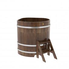 Купель угловая из сращенных ламелей лиственницы 1,03х1,03х1,1 морёна