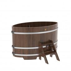 Купель овальная из дуба 1,02х1,68х1,0 морёная