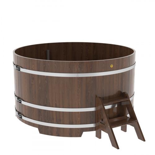 Купель круглая из дуба d=1,80х1,0 морёная