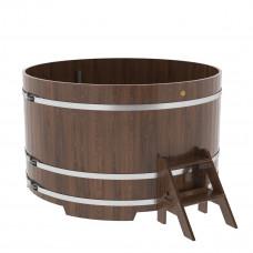 Купель круглая из дуба d=1,80х1,1 морёная