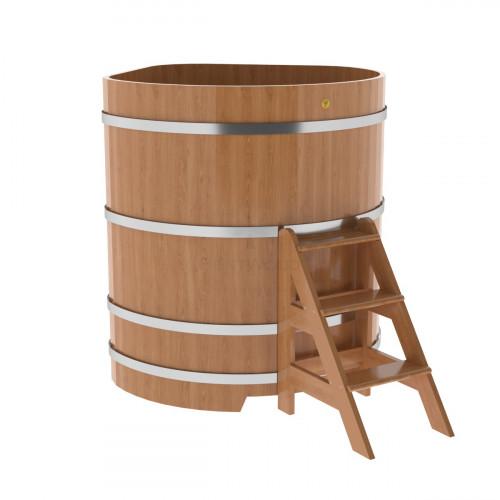 Купель угловая из дуба 1,19х1,19х1,4 натуральная