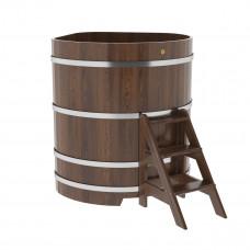 Купель угловая из дуба 1,19х1,19х1,4 морёная