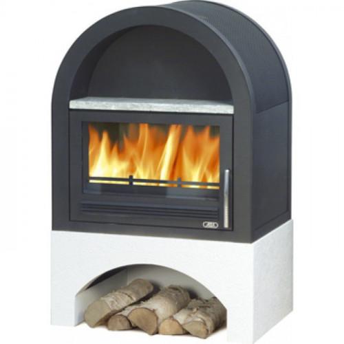 Камин-печь Grunt, с теплообменником