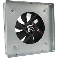 Вентилятор-переходник от трубы к решетке 17х17 d-100мм(с термостатом)