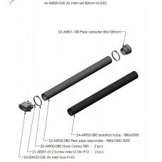 Комплект притока воздуха извне для топки N-23G