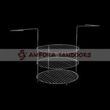Этажерка универсальная к тандырам Атаман, Аладдин, Восточный, Скиф, Дастархан (3х ярусная большая)