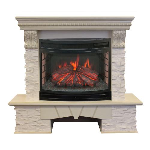 Камин RealFlame Rockland LUX 25 WT с FireField 25 SIR