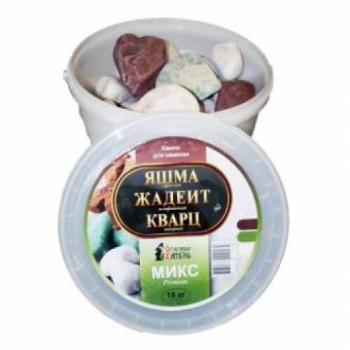 Микс Премиум яшма, кварц,жадеит (15кг)