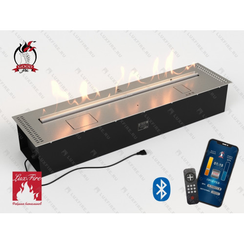 Автоматический биокамин Good Fire 1100 RC INOX