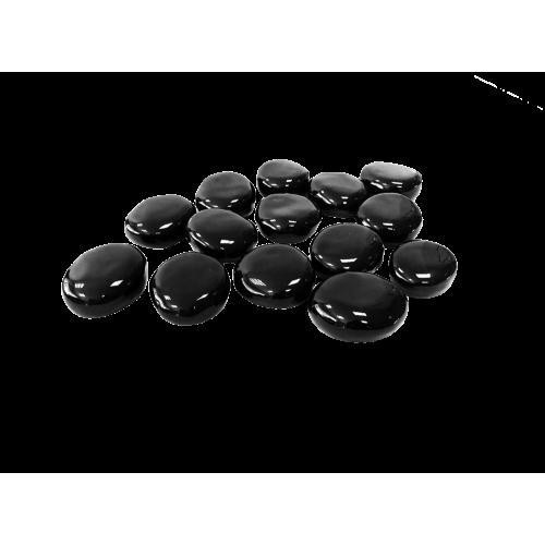 Декоративные керамические камни черные 14 шт (ZeFire)