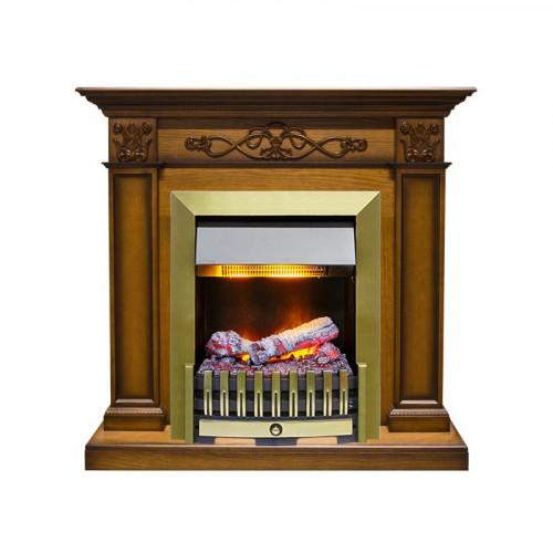 Каминокомплект Verona - Дуб антик с очагом Danville Antique Brass FB2