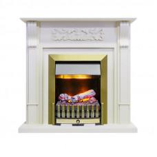 Каминокомплект Venice - Фактурный белый с очагом Danville Antique Brass FB2